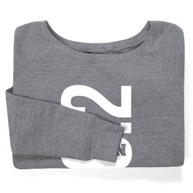 Running Fleece Wide Neck Sweatshirt - Philadelphia 26.2 Vertical