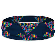 Running Multifunctional Headwear - Heart With Runners Repeat RokBAND