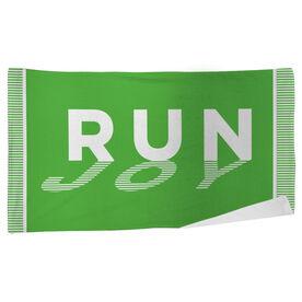 Running Beach Towel Run Joy