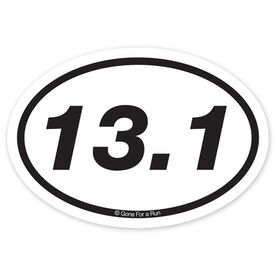 13.1 Half Marathon Decal (Black/White)