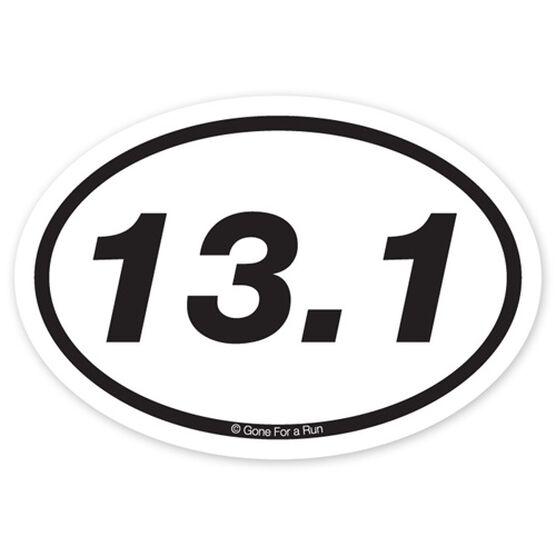 13 1 half marathon decal black white