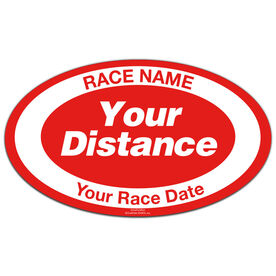 Custom Distance and Race Oval Car Magnet