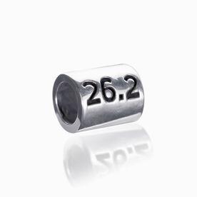 Sterling Silver 26.2 Marathon Large Hole Bead