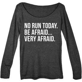 Women's Runner Scoop Neck Long Sleeve Tee - No Run Today