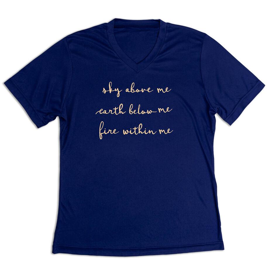 Women's Short Sleeve Tech Tee - Sky Above Me