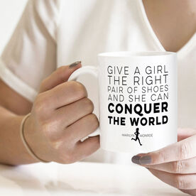 Running Coffee Mug - Give A Girl The Right Pair of Shoes