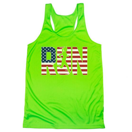 Women's Racerback Performance Tank Top - Run Girl USA