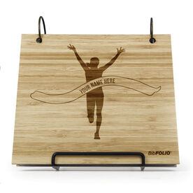 Engraved Bamboo Wood BibFOLIO® Race Bib Album - Pride Is Forever Female