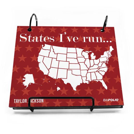 BibFOLIO® Race Bib Album - Running The Usa Map Dry Erase