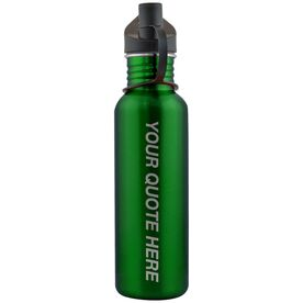 Your Quote Here 24 oz Stainless Steel Water Bottle
