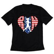 Women's Short Sleeve Tech Tee - Patriotic Heart