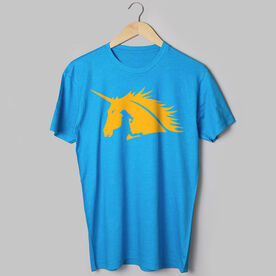Running Short Sleeve T-Shirt - Boston Spirit - Runner Girl