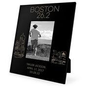Running Engraved Picture Frame - Boston Sketch