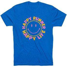 Running Short Sleeve T-Shirt - Happy Runner Happy Life