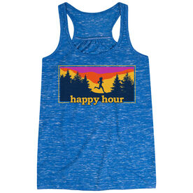 Flowy Racerback Tank Top - Happy Hour