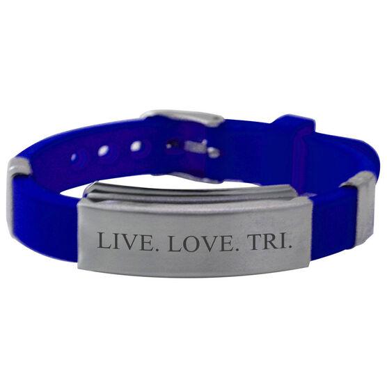 Live Love Tri Silicone Bracelet