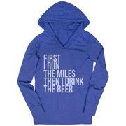 Women's Running Lightweight Performance Hoodie - Then I Drink The Beer