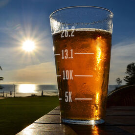 16 oz Beer Pint Glass Runner's Measurements