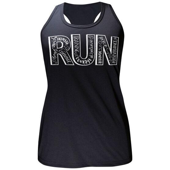 Women's Performance Tank Top Run With Inspiration