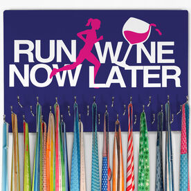 Running Hooked on Medals Large Medal Hanger Run Now Wine Later