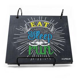 BibFOLIO® Race Bib Album - Eat Sleep Run Chalkboard