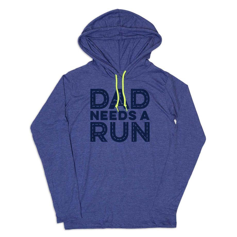 Men's Running Lightweight Hoodie - Dad Needs A Run