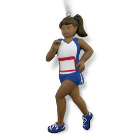 Runner Resin Figure Ornament - Black Female