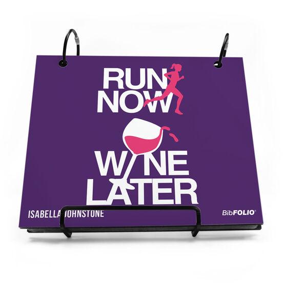 BibFOLIO® Race Bib Album - Run Now Wine Later