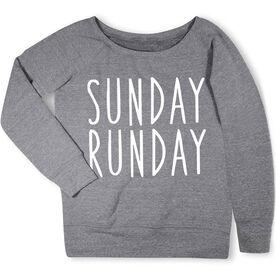 Running Fleece Wide Neck Sweatshirt - Sunday Runday