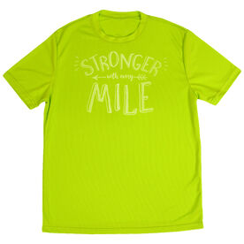 Men's Running Short Sleeve Tech Tee Stronger With Every Mile