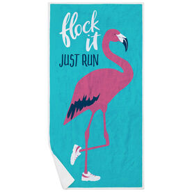 Running Premium Beach Towel - Flock It Just Run