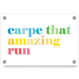 Running Metal Wall Art Panel - Carpe That Amazing Run