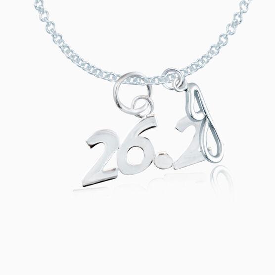 Sterling Silver 26.2 Marathon Necklace