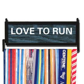 RunnersWALL Rustic Love To Run Medal Display