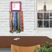 BibFOLIO+™ Race Bib and Medal Display Dry Erase My PRs Marathon Silhouette