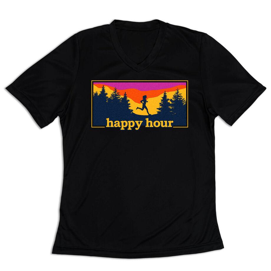 Women's Short Sleeve Tech Tee - Happy Hour