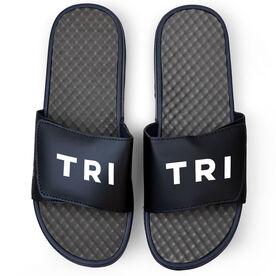 Triathlon Navy Slide Sandals - TRI