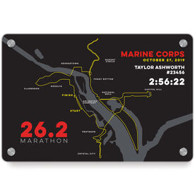 Running Metal Wall Art Panel - Marine Corps 26.2 Route