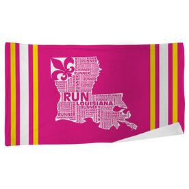 Running Beach Towel Louisiana State Runner