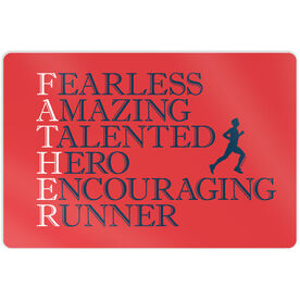 """Running 18"""" X 12"""" Aluminum Room Sign - Father Words"""