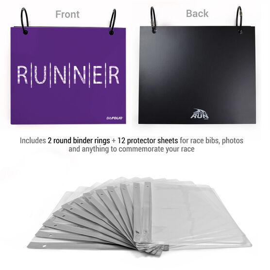 BibFOLIO® Race Bib Album - Patterned Runner