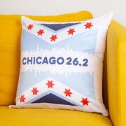 Running Decorative Pillow - Chicago 26.2