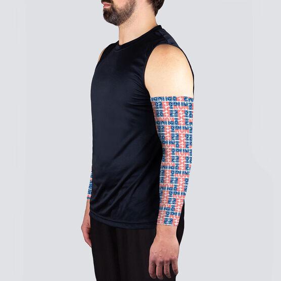Running Printed Arm Sleeves - Run Patriotic