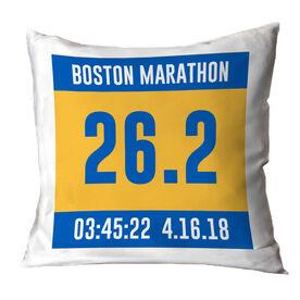 Running Throw Pillow - Custom Bib