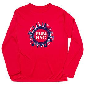 Men's Running Long Sleeve Performance Tee - Run For NYC
