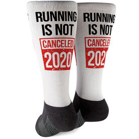 Running Printed Mid-Calf Socks - Running is Not Canceled 2020