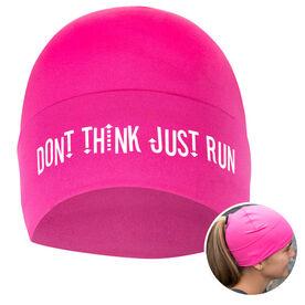 Performance Ponytail Cuff Hat Don't Think Just Run