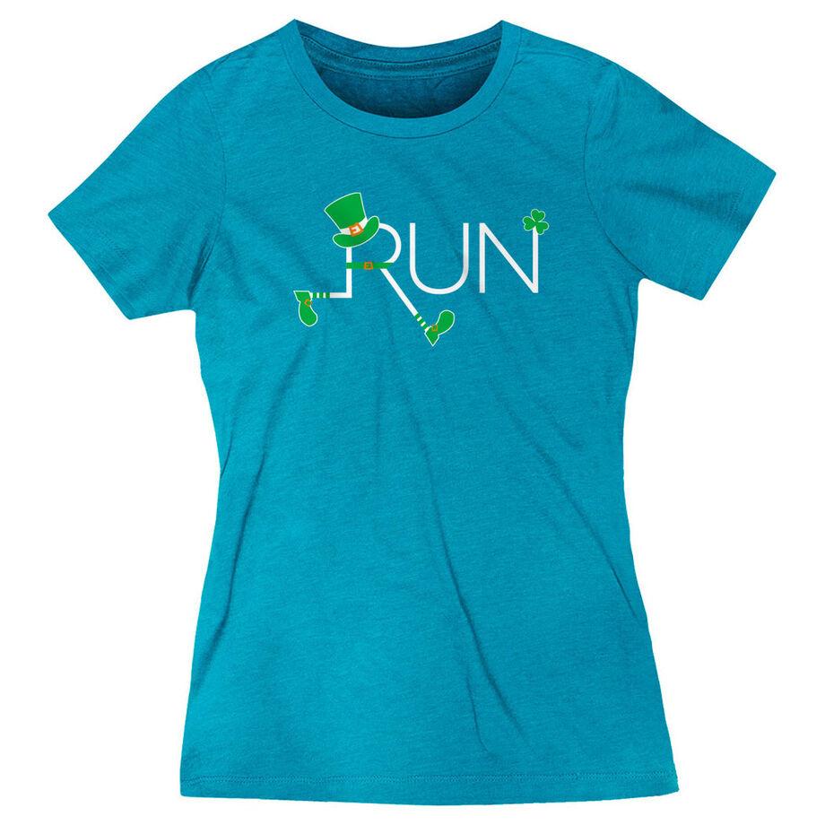 Running Women's Everyday Tee - Let's Run Lucky