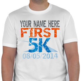 Men's Running Customized Short Sleeve Tech Tee First 5K (Distressed)