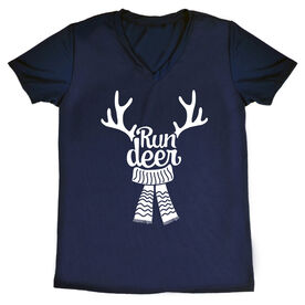 Women's Short Sleeve Tech Tee - Run Deer